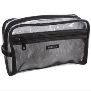 Modella Clear & Black Carrying Case